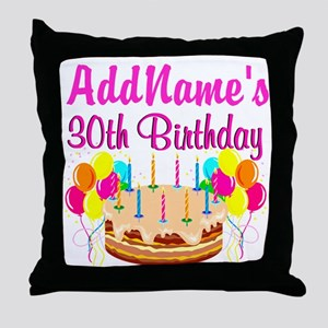 FABULOUS 30TH Throw Pillow