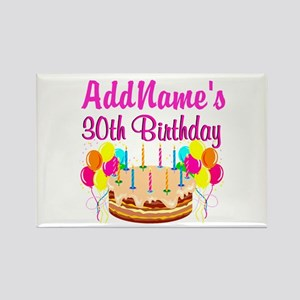 FABULOUS 30TH Rectangle Magnet
