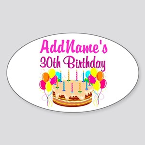 FABULOUS 30TH Sticker (Oval)