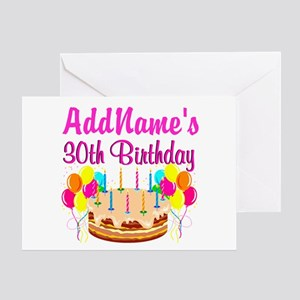 FABULOUS 30TH Greeting Card