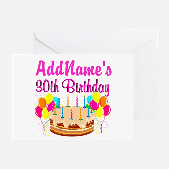 FABULOUS 30TH Greeting Cards (Pk of 10)