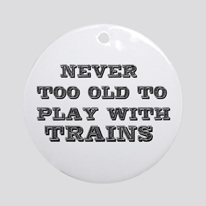 play with trains Ornament (Round)