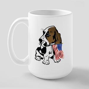 Basset Hound Flag Large Mug