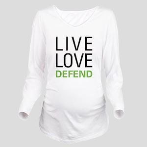 Live Love Defend Long Sleeve Maternity T-Shirt