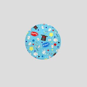 Blue Magician pattern Mini Button