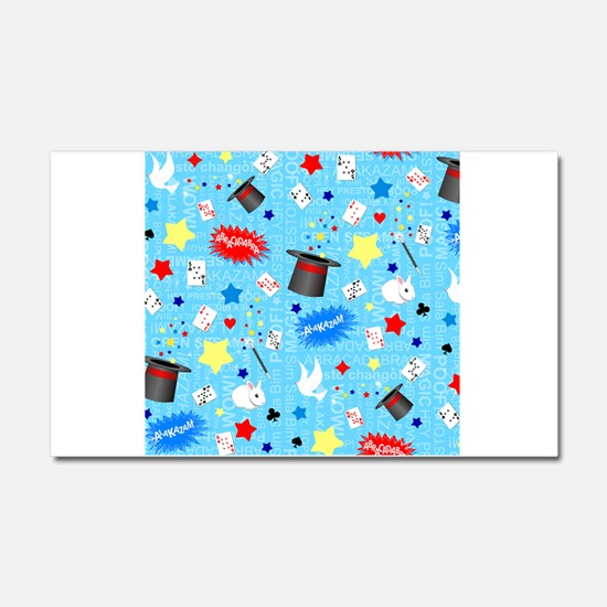 Blue Magician pattern Car Magnet 20 x 12