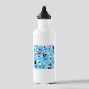 Blue Magician pattern Sports Water Bottle