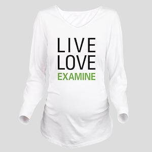 Live Love Examine Long Sleeve Maternity T-Shirt