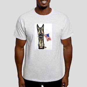 4th of July German Shepherd Light T-Shirt