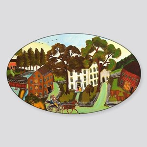 Croquet in the Country Sticker (Oval)