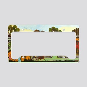 Croquet in the Country License Plate Holder