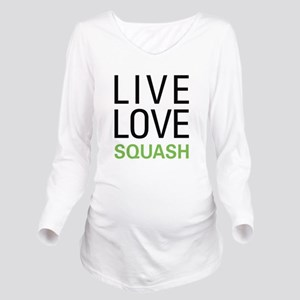 livesquash Long Sleeve Maternity T-Shirt