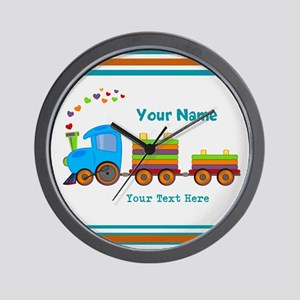 Custom Kids Train Wall Clock