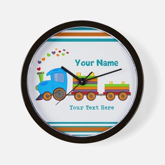 Custom Kids Train Wall Clock