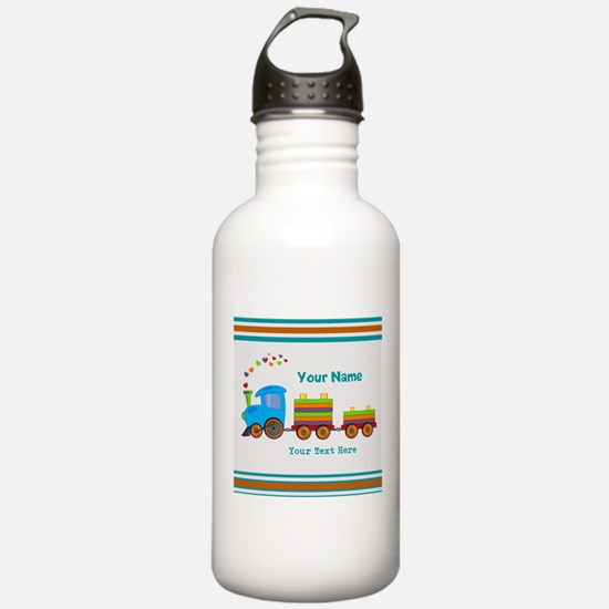 Custom Kids Train Water Bottle