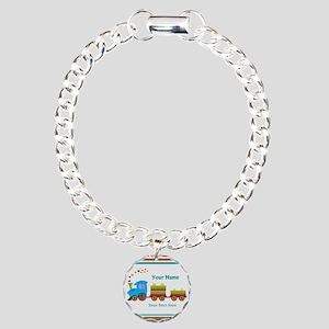 Custom Kids Train Charm Bracelet, One Charm