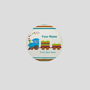 Custom Kids Train Mini Button