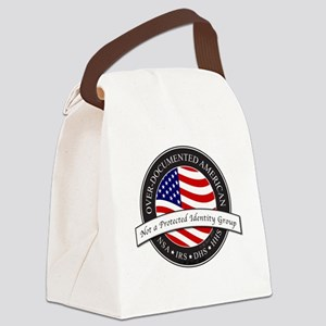 Over-Documented American large Canvas Lunch Bag