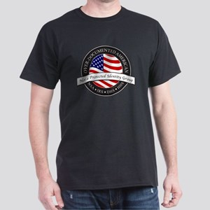 Over-Documented American large Dark T-Shirt