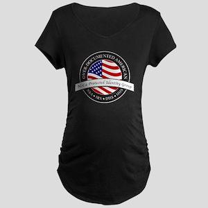 Over-Documented American la Maternity Dark T-Shirt