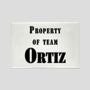 Property of Team Ortiz Rectangle Magnet