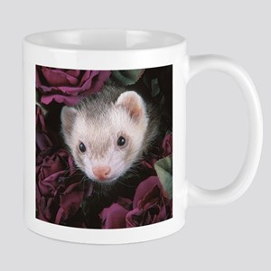 #1 Ferret Mom (flowers) - Mug