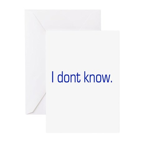 I don't know Greeting Cards (Pk of 10)