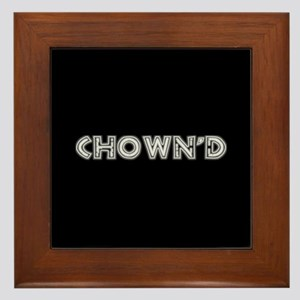 CHOWN'D Black Framed Tile