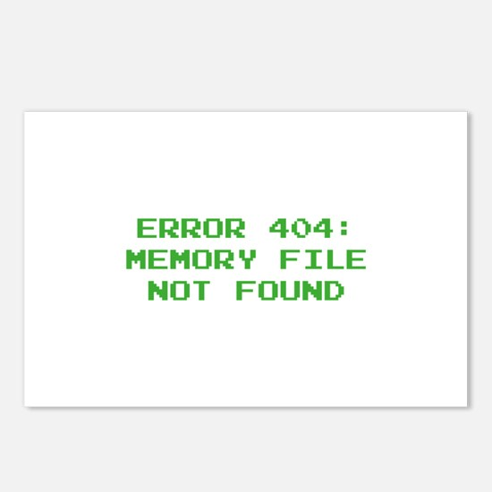 404 Error : Memory File Not Found Postcards (Packa
