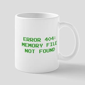 404 Error : Memory File Not Found Mug