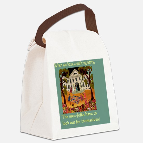 Quilting Party Canvas Lunch Bag