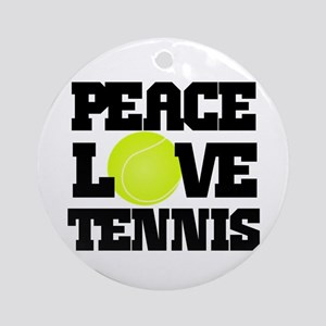 Peace, Love, Tennis Ornament (Round)