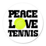 Tennis coach Round Car Magnets