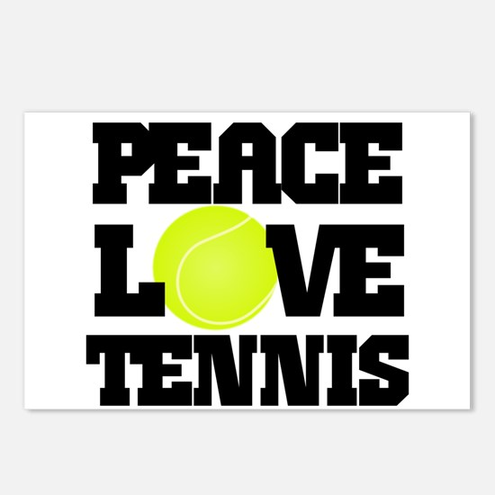 Peace, Love, Tennis Postcards (Package of 8)