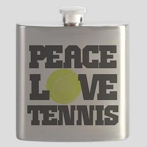 Peace, Love, Tennis Flask