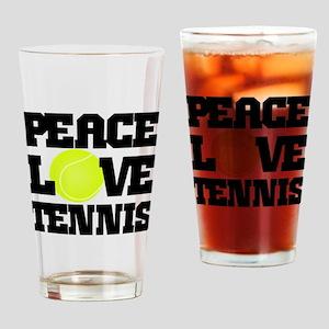 Peace, Love, Tennis Drinking Glass