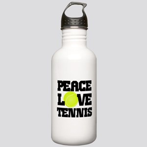 Peace, Love, Tennis Water Bottle
