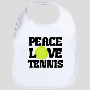 Peace, Love, Tennis Bib