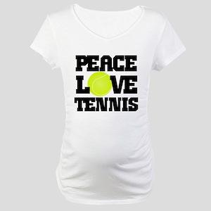 Peace, Love, Tennis Maternity T-Shirt
