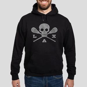 Lacrosse Lax Skull Hoodie (dark)
