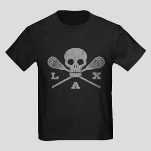 Lacrosse Lax Skull Kids Dark T-Shirt
