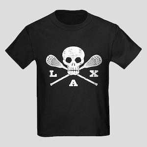 Lacrosse Lax Skull Kids Dark T-Shirt