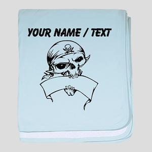 Custom Pirate Skull baby blanket