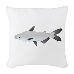 Mekong Giant Catfish Woven Throw Pillow