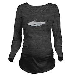 Mekong Giant Catfish c Long Sleeve Maternity T-Shi