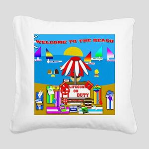 Lifeguard Square Canvas Pillow