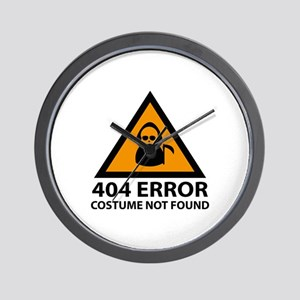 404 Error : Costume Not Found Wall Clock