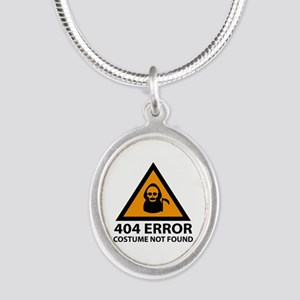 404 Error : Costume Not Found Silver Oval Necklace