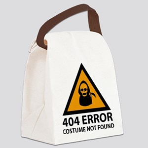 404 Error : Costume Not Found Canvas Lunch Bag