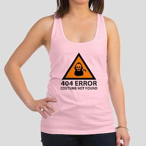 404 Error : Costume Not Found Racerback Tank Top